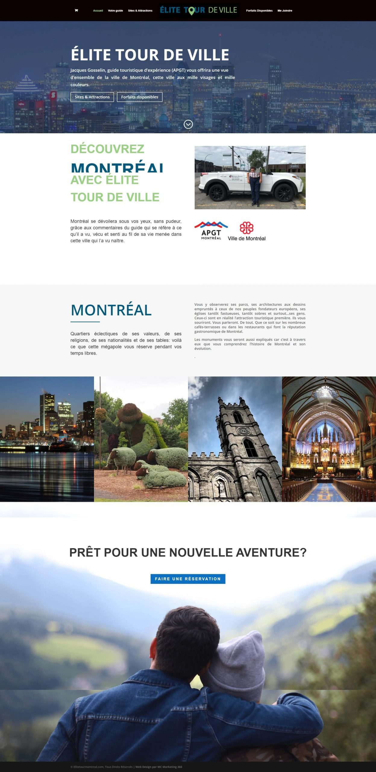 city tour guide website design in montreal scaled