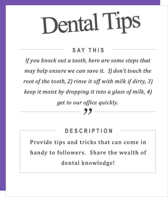 social media content for dentist