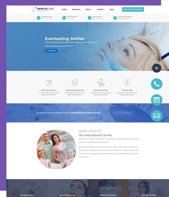 website design for dentist i